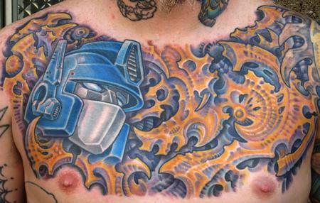 Tattoos - Biomech Chest - 113926
