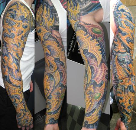 Tattoos - Biomech Sleeve - 113986