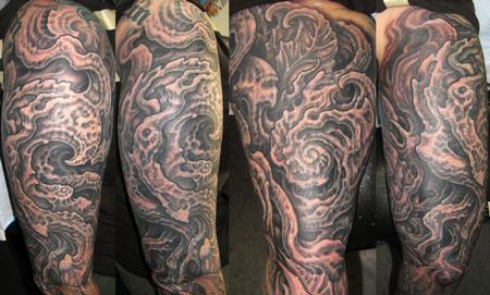 Tattoos - Biomech Half Sleeve - 114071