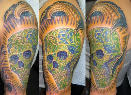 Tattoos - Biomech Half Sleeve - 117183