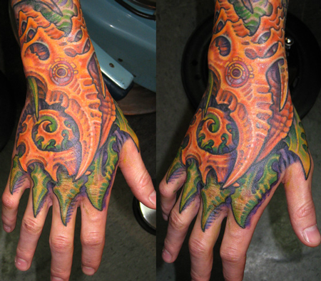Bio Mech Hand Tattoo Design Thumbnail