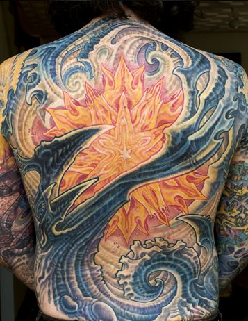 Bio Back Piece on Guy Aitchison Tattoo Design Thumbnail