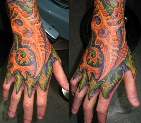 Bio Mech Hand Tattoo Design