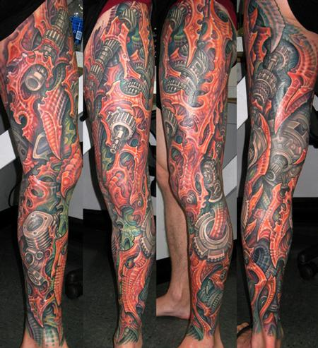 Tattoos - Biomech Leg Sleeve - 108219