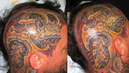 Tattoos - BIOMECH HEAD - 122678