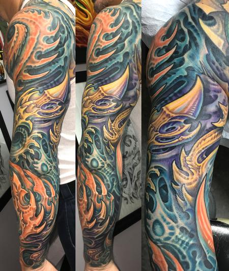 Tattoos - Biomech Tricep Tattoo - 126913