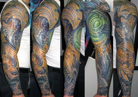 Tattoos - BIOMECH SLEEVE - 122676
