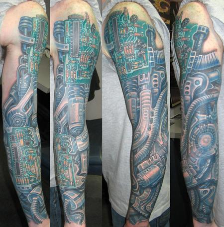 Tattoos - BIOMECH SLEEVE - 122670