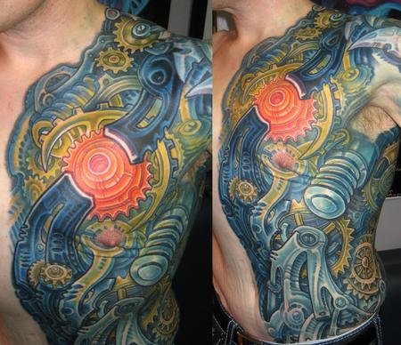 Tattoos - BIOMECH RIBS - 122675