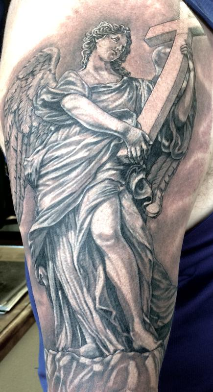 Angel statue by Edward Lott: TattooNOW