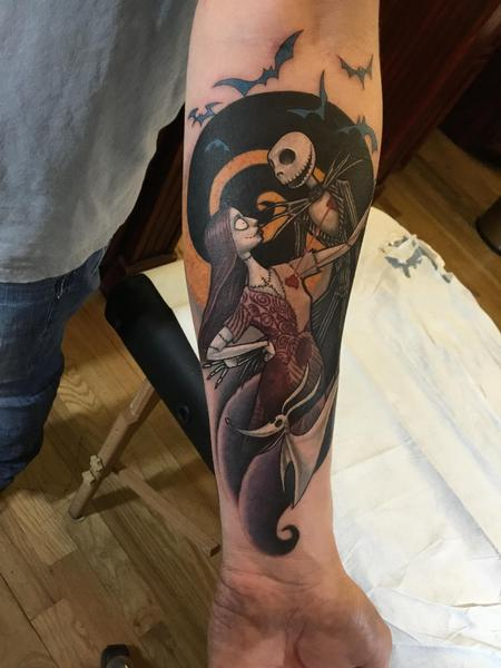 Tattoos - Jack and Sally from A nightmare before Christmas - 125281