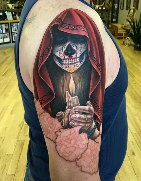 Tattoos - Day of the Dead sleeve start - 127481
