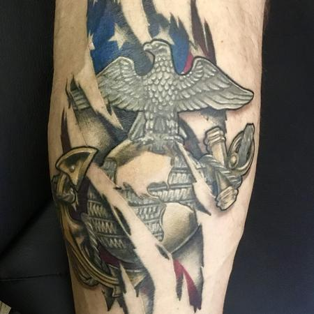 Tattoos - EGA and flag tear out - 130014