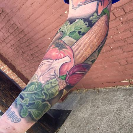 Tattoos - Vegetable forearm  - 130018