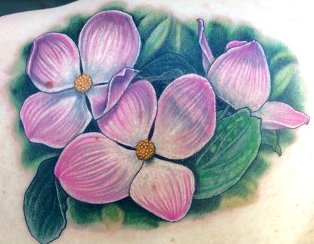 Tattoos - Pink dogwood blossoms  - 116938