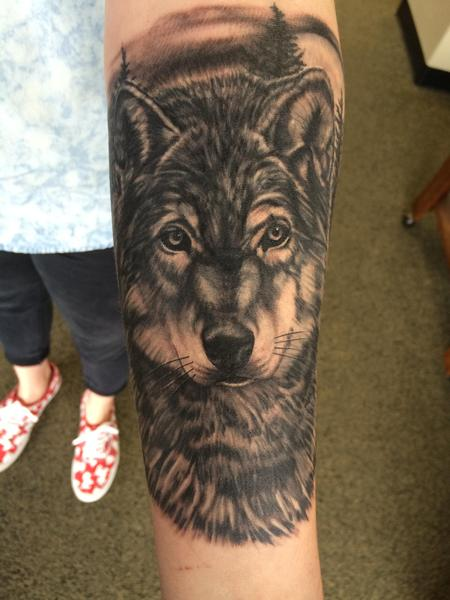 Tattoos - Wolf cover up - 116941