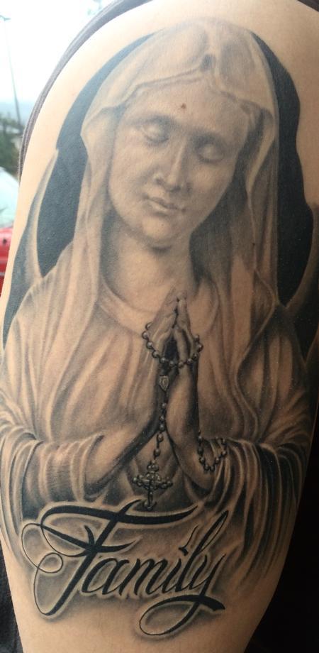 Tattoos - Virgin Mary statue  - 107900