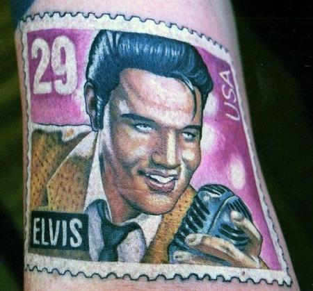 Tattoos - Elvis Stamp - 107906
