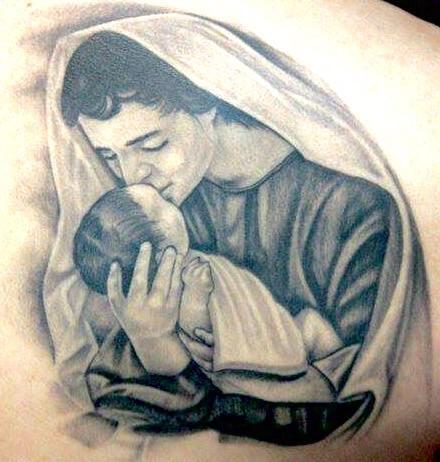 Tattoos - Virginia and baby Jesus  - 107913