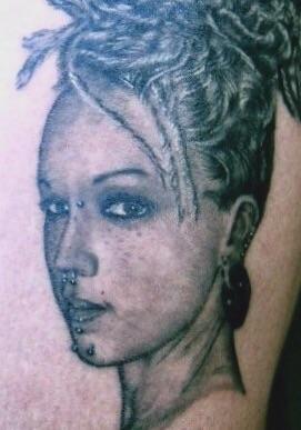 My friend Amber Tattoo Design Thumbnail