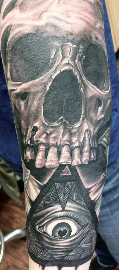 Tattoos - Skull and all-seeing-eye - 113920