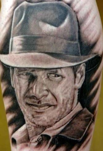 Tattoos - Indiana Jones portrait - 107892