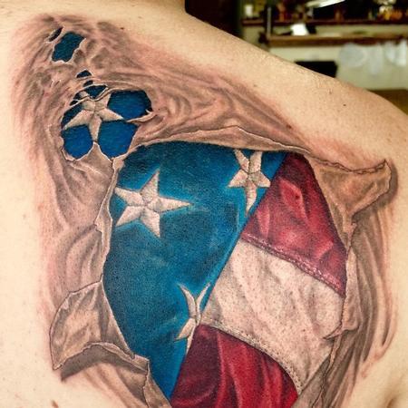 Tattoos - US Flag Tearout - 106190