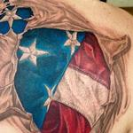 US Flag Tearout Tattoo Design Thumbnail