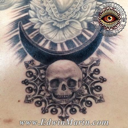 Tattoos - Infant Skull and Black Moon - 104143