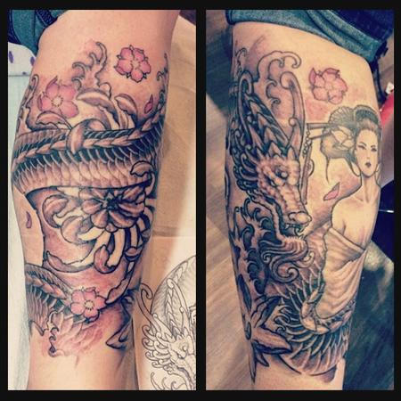 Tattoos - Dragon - 104362