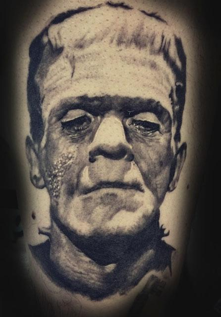 Frankenstein's Monster Tattoo Design