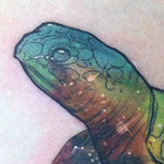 Tie-Dye Space Turtle Rib Tattoo Tattoo Design Thumbnail