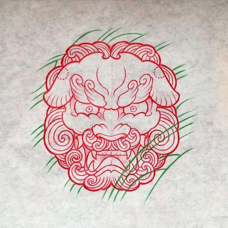 Foo Dog Tattoo Design Gao Tattoo
