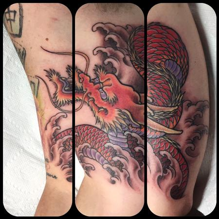 Tattoos - Red dragon  - 125533