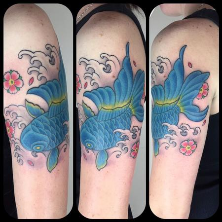 Tattoos - Blue goldfish  - 122688
