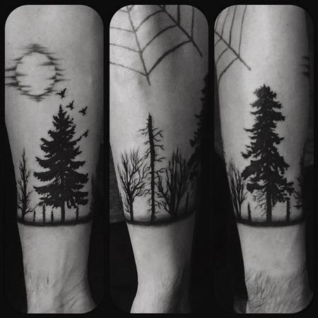 Tattoos - Black work trees - 126799