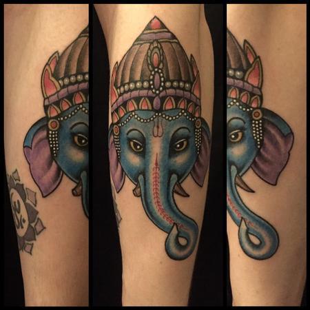 Tattoos - Elephant god Ganesha - 126803