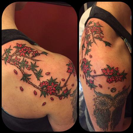 Tattoos - Cherry blossom branch  - 126801
