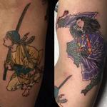 Two Japanese samurai  Tattoo Design Thumbnail