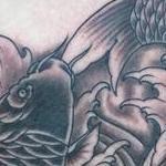 Yin yang koi Tattoo Design Thumbnail