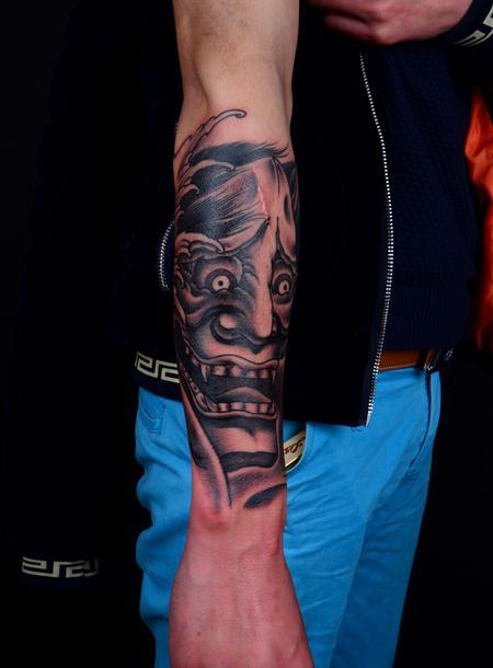 Hannya Mask Tattoo Design Thumbnail