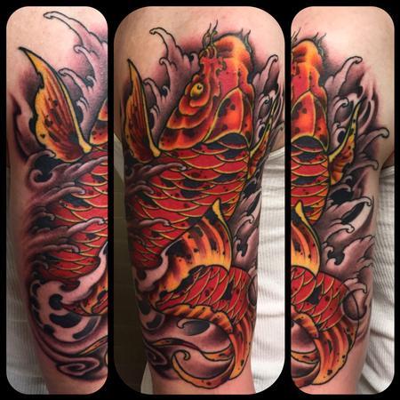 Tattoos - Koi fish sleeve - 112060