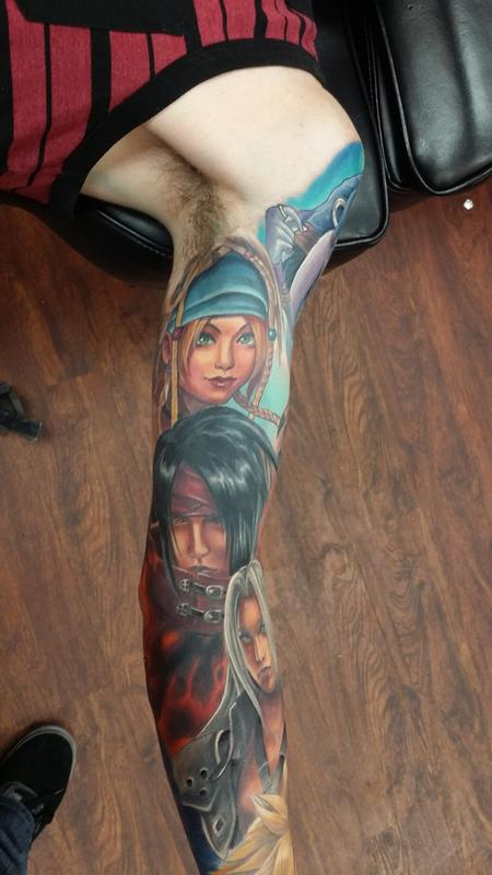 Final fantasy partial sleeve by halo tattoonow for Tattoos by halo