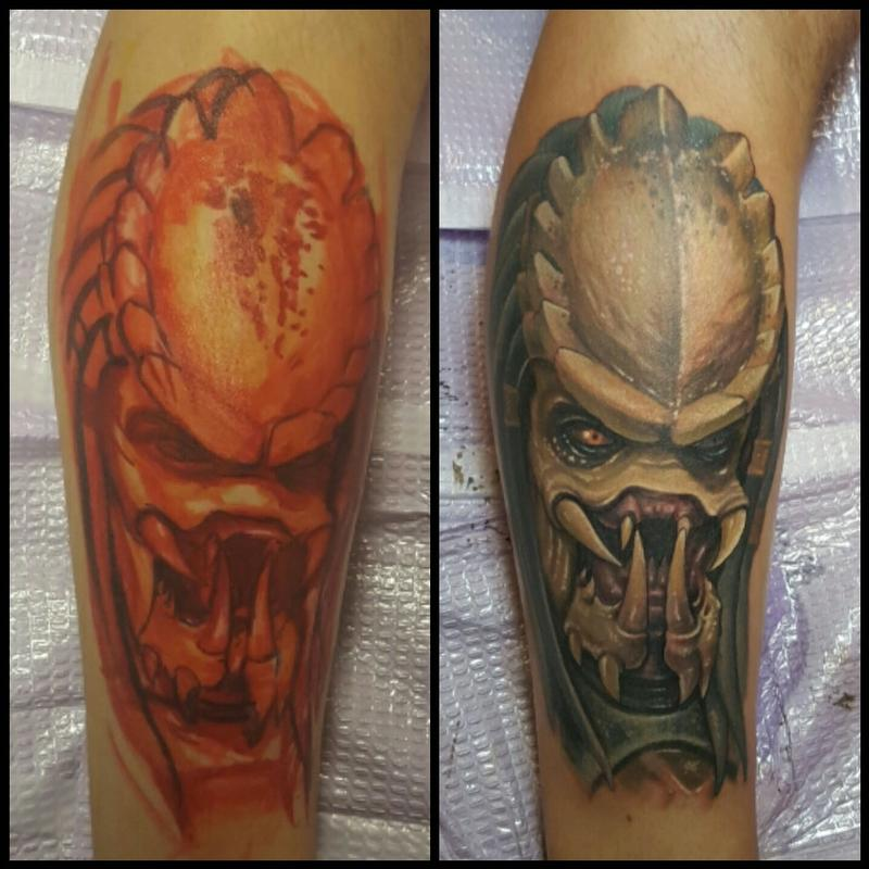 Freehand predator by halo tattoonow for Tattoos by halo