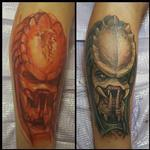 Freehand - Predator Tattoo Design Thumbnail