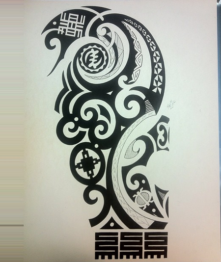 Tattoos - Polynesian Drawing - 101591