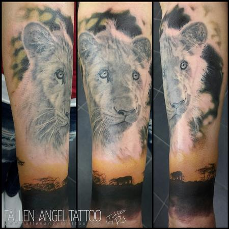 The Lion Michael Tattoo Design Thumbnail