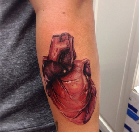 Anatomical Heart  Tattoo Thumbnail