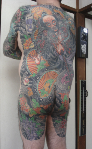Traditional Japanese Bodysuit Tattoo Design Thumbnail