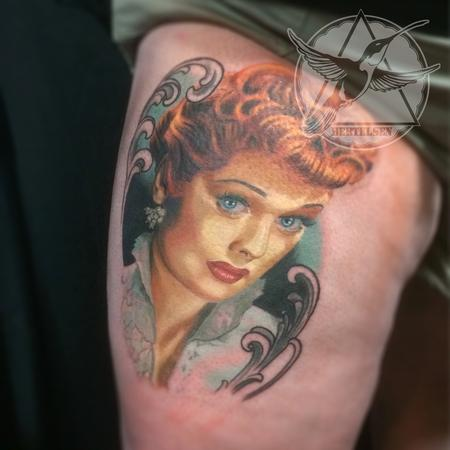 Lucille Ball Vintage Color Portrait Design Thumbnail